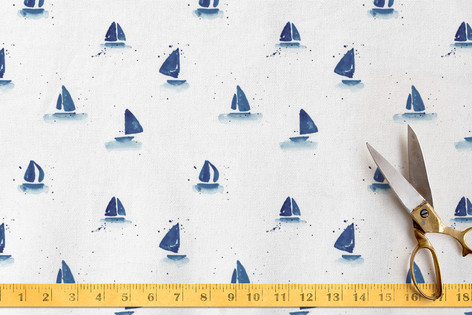 Sailboat Splash Fabric
