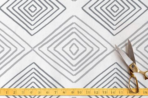 Hand Drawn Ikat Fabric