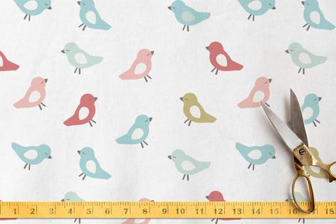 baby birds Fabric