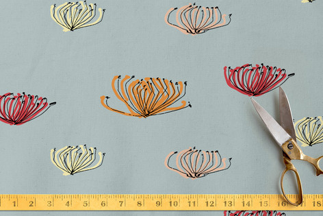 pincushion proteas Fabric