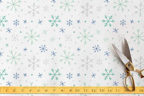 winter flurries Fabric