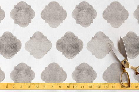Faded Quatrefoil. Fabric