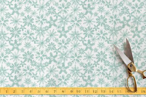 White Winter Fabric