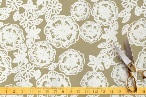 Lace and Kraft Fabric