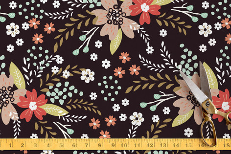 Floral Chalkboard Fabric