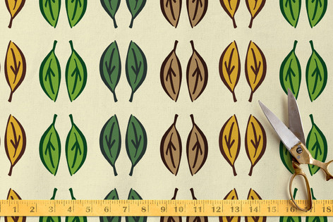 Graphic Leaves Fabric