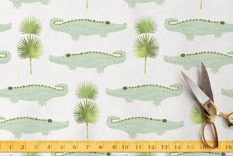 Alligators and Palmettos Fabric