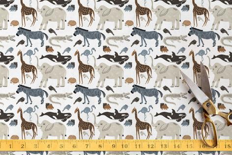 Wild Animals Fabric