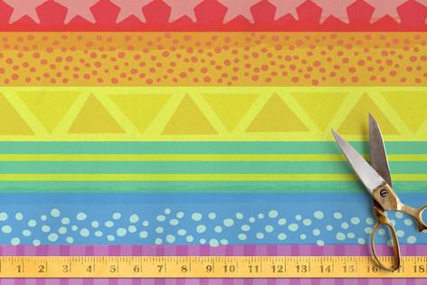 Rainbow Brights Fabric