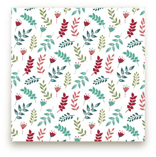 Playful leaves Self-Launch Fabric