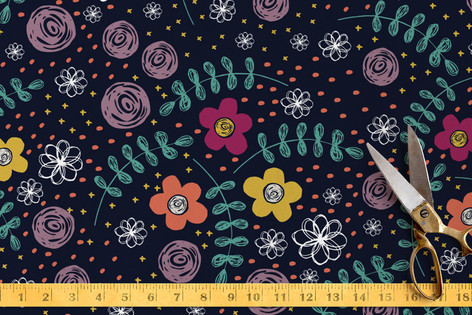 Floral Fusion Fabric