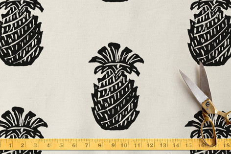 Block Print Pineapple Fabric