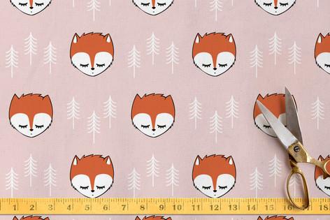 sleepy foxes  Fabric