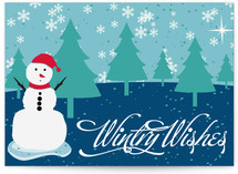 Wintry Wishes & snow man
