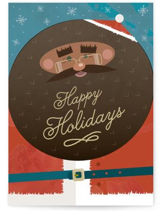 Black Santa Self-Launch Cards