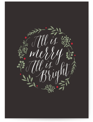 All is Merry All is Bright Self-Launch Cards