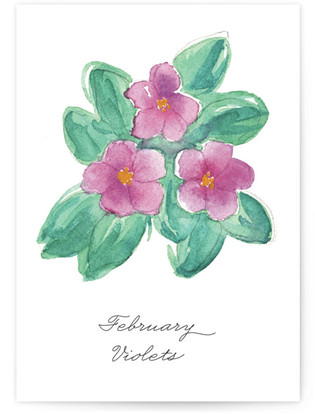 February Violet Self-Launch Cards