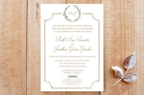 Floral Formal Wedding Invitation Cards By Sydney Minted