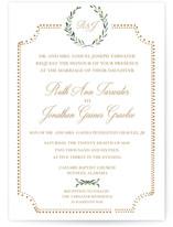 Floral & Formal Wedding Invitation