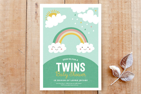 Twin Rainbows Cards