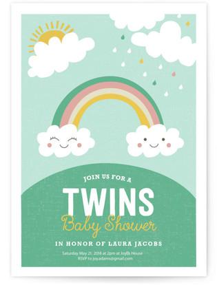 Twin Rainbows Self-Launch Cards