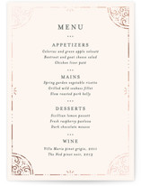 Wedding menu cards minted many layouts available junglespirit Gallery