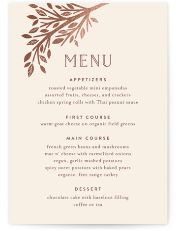 Enchanted Foil-Pressed Menus
