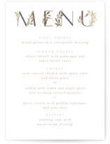 This is a white menu card by Creo Study called Love and Marriage with foil-pressed printing on doublethick in standard.