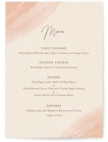 This is a pink menu card by Robin Ott called empyrean with foil-pressed printing on signature in standard.