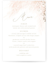 This is a pink menu card by Kristie Kern called Opus with foil-pressed printing on signature in standard.