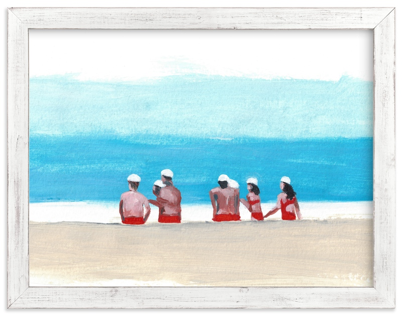 """Lifeguards"" - Art Print by Jenny Partrite in beautiful frame options and a variety of sizes."
