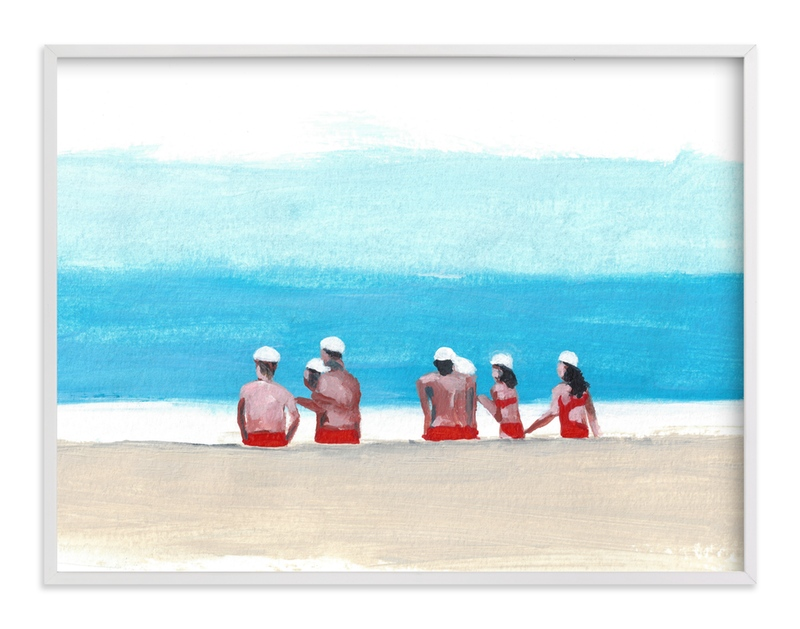 """""""Lifeguards"""" - Art Print by Jenny Partrite in beautiful frame options and a variety of sizes."""