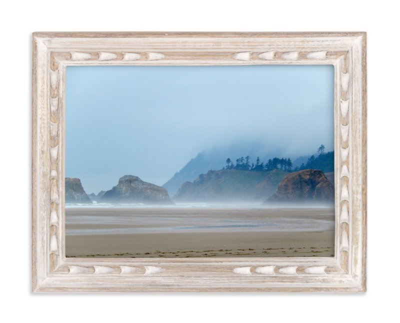 """""""Misty Coast"""" - Art Print by Jan Kessel in beautiful frame options and a variety of sizes."""