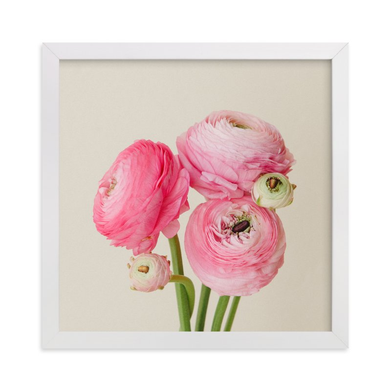"""Friendly flowers"" - Art Print by Michelle Westling in beautiful frame options and a variety of sizes."