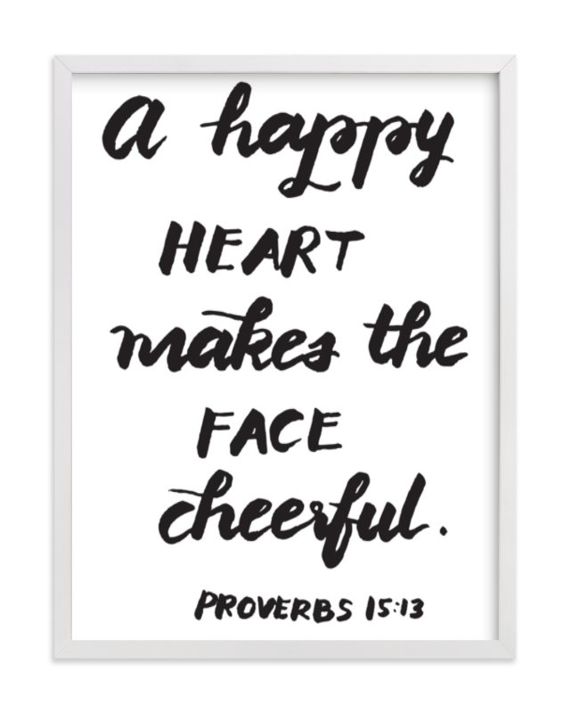 """""""A Happy Heart"""" - Art Print by aticnomar in beautiful frame options and a variety of sizes."""