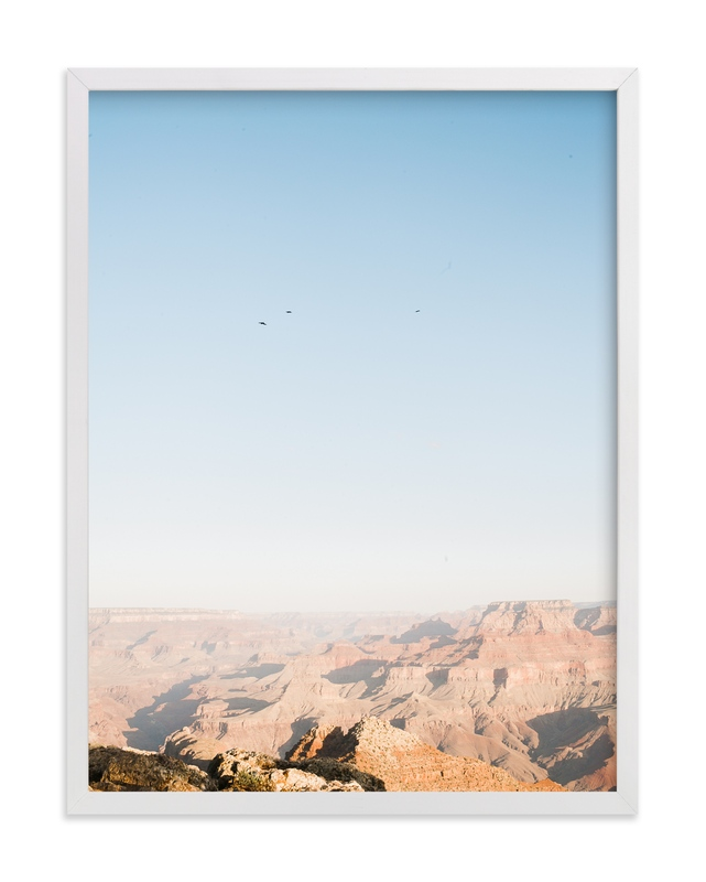 """Birds Over the Canyon"" - Art Print by Anna Western in beautiful frame options and a variety of sizes."