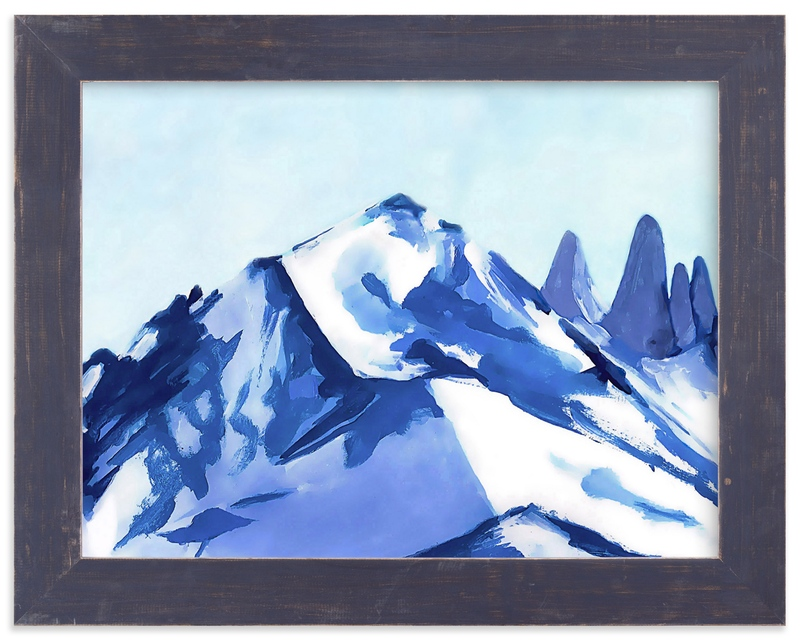 """""""Blue Mountain"""" - Art Print by Jenny Partrite in beautiful frame options and a variety of sizes."""