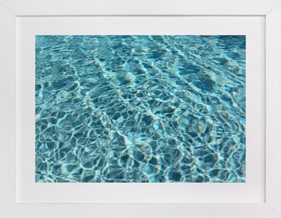 Liquid Bleau  Art Print