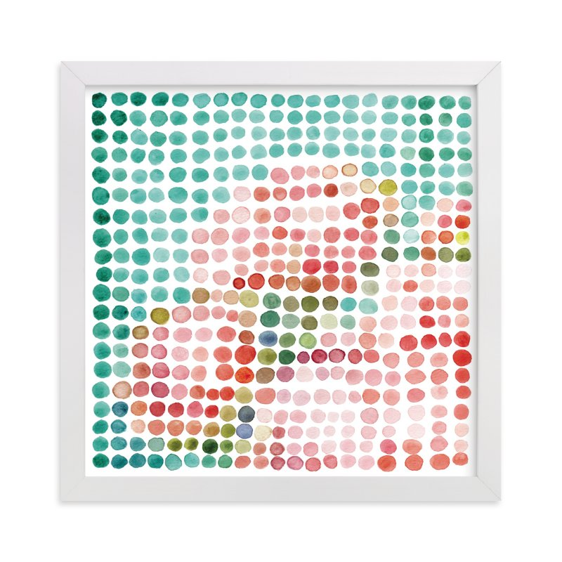 """""""still life of bouquet in dots: spring"""" - Art Print by Cindy Lackey in beautiful frame options and a variety of sizes."""