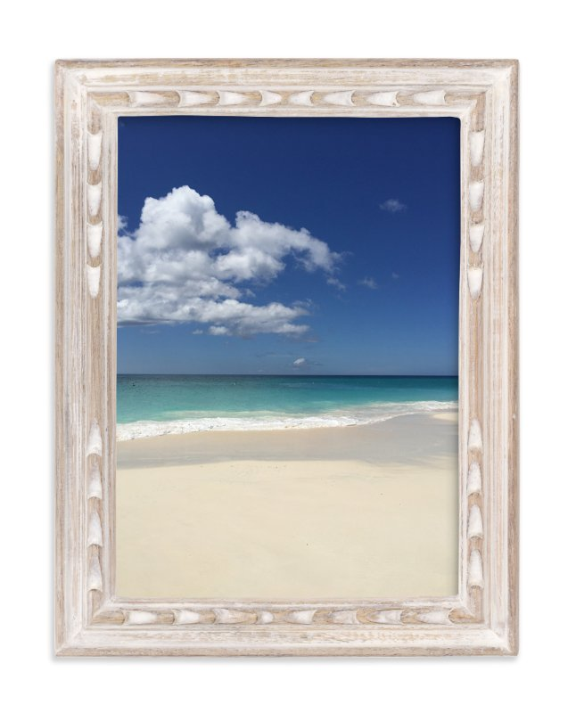 """Splashing Blue & White"" - Art Print by CaroleeXpressions in beautiful frame options and a variety of sizes."
