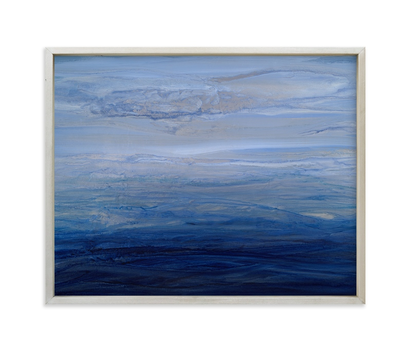 """""""silver sky"""" - Art Print by Teodora Guererra in beautiful frame options and a variety of sizes."""