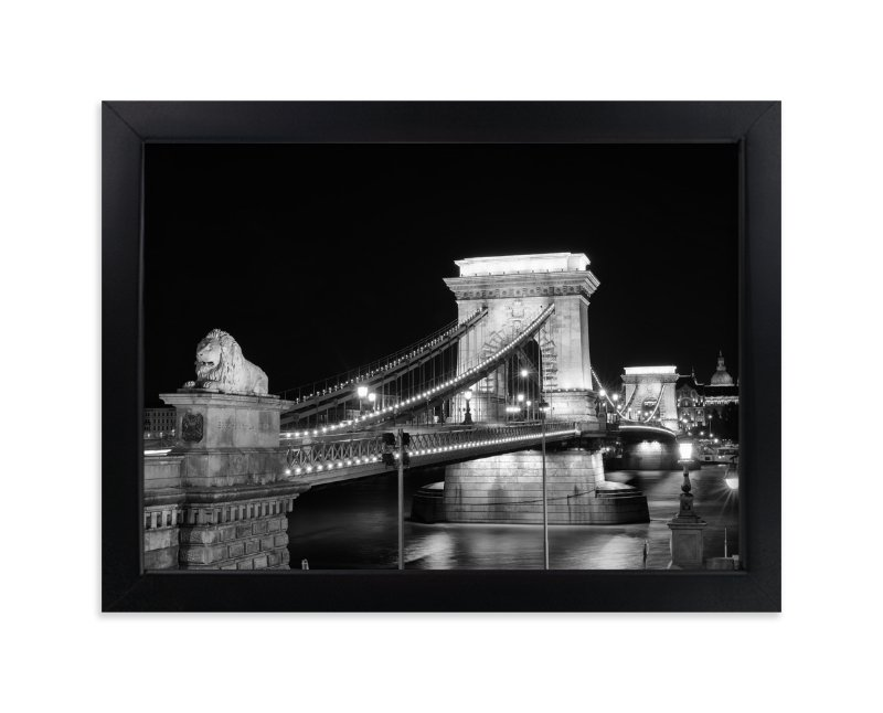 """Danube Nights"" - Art Print by Mark Kirby in beautiful frame options and a variety of sizes."