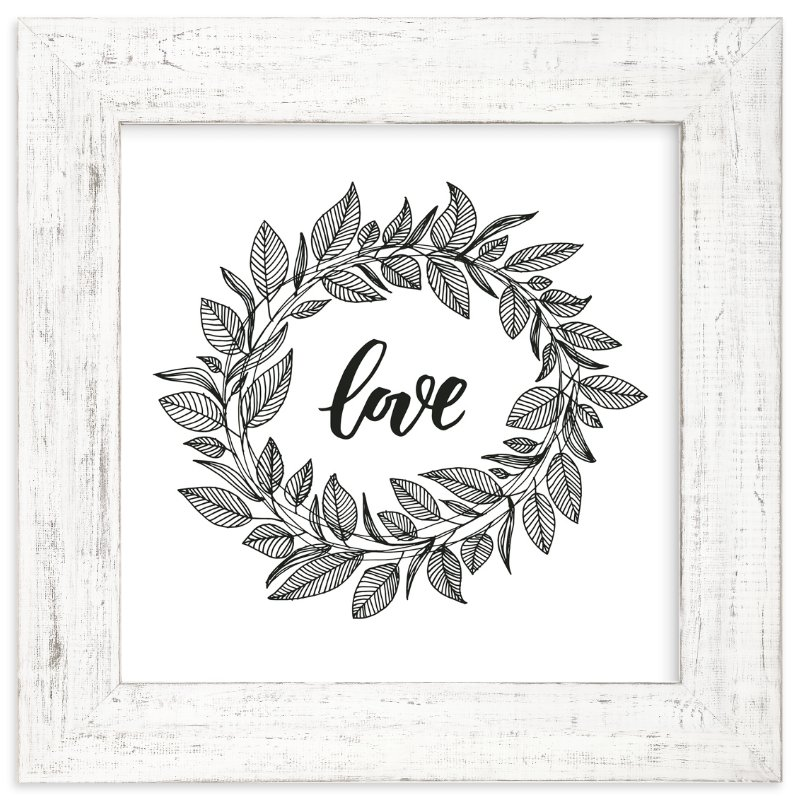 """""""Love Wreath by LY"""" - Art Print by Lyna Ti in beautiful frame options and a variety of sizes."""