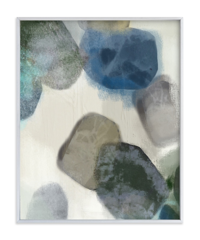 """Gem Stones"" - Art Print by Alison Jerry Designs in beautiful frame options and a variety of sizes."