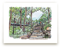Stairs to the Park Wall Art Prints