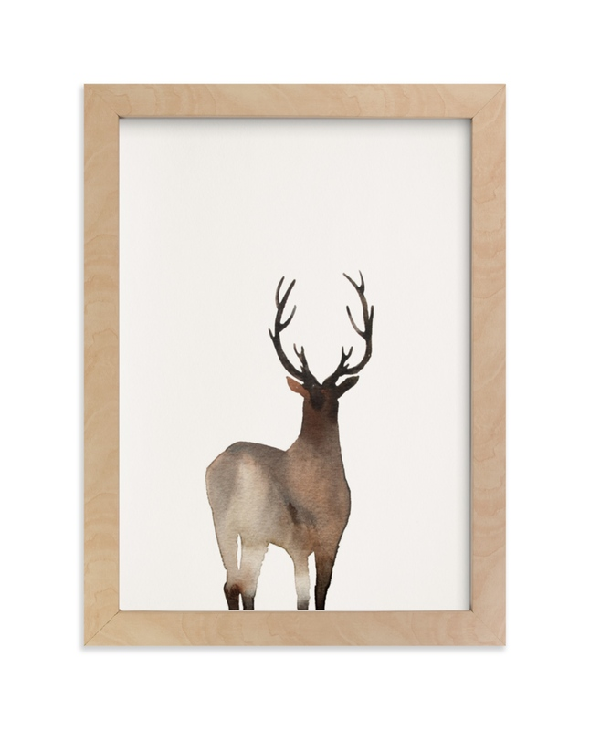 """Prancer"" - Art Print by jinseikou in beautiful frame options and a variety of sizes."