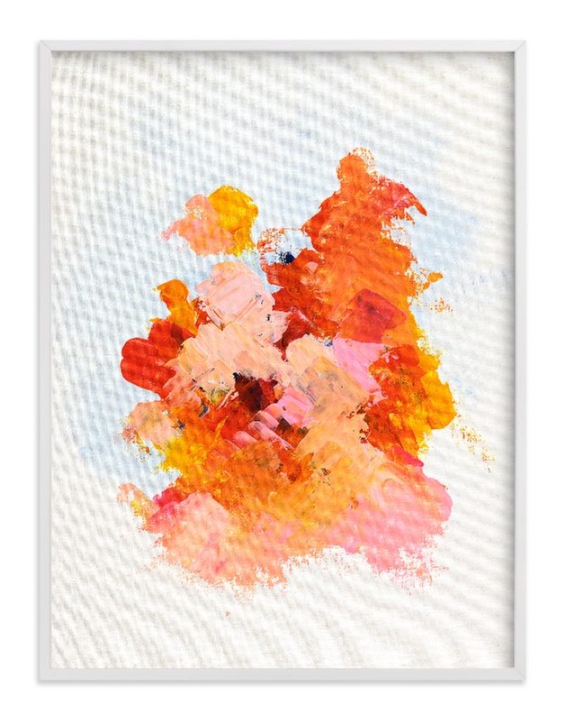 """""""Bright Pink Abstract Art Print"""" - Art Print by Caryn Owen in beautiful frame options and a variety of sizes."""