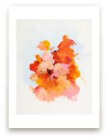 Bright Pink Abstract Art Print
