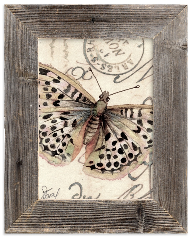 """Sepia Butterfly I"" - Art Print by Stephanie Toral in beautiful frame options and a variety of sizes."