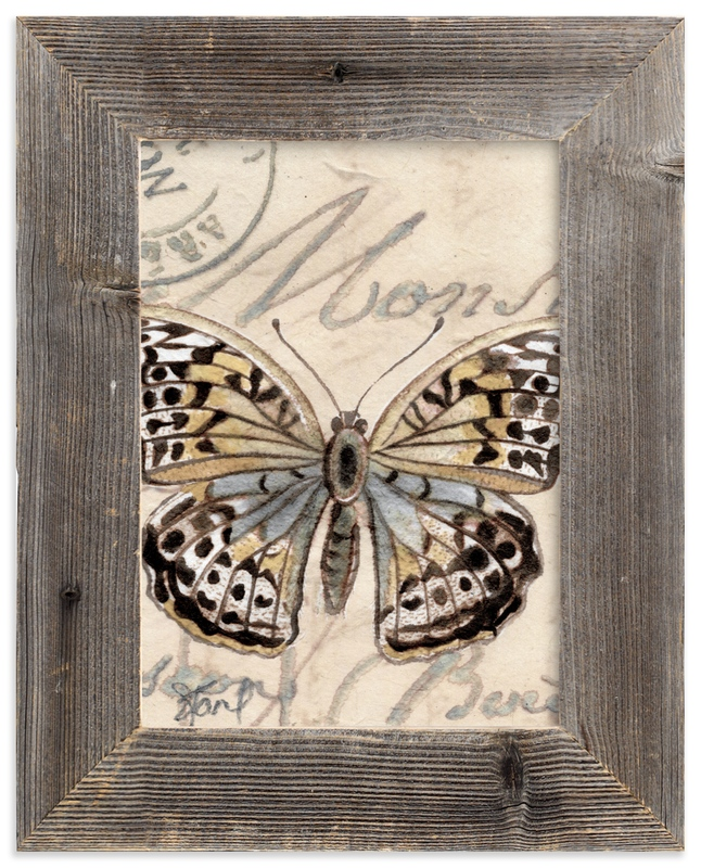 """""""Sepia Butterfly II"""" - Art Print by Stephanie Toral in beautiful frame options and a variety of sizes."""
